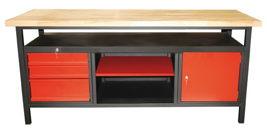 profi werkbank 3 schubladen ablage g nstig kaufen im sk tools shop. Black Bedroom Furniture Sets. Home Design Ideas