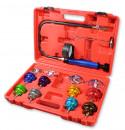 8 teilges Kühlsystem Tester Werkzeug Set inkl. Abdrückgerät